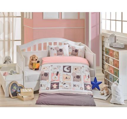Детское белье в кроватку Hobby Home Sweet Home (розовый)