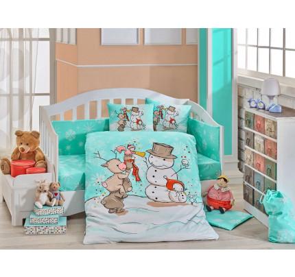 Детское белье в кроватку Hobby Home Snowball (минт)