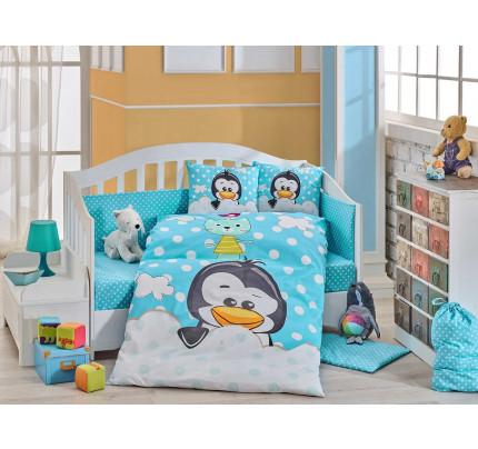 Детское белье в кроватку Hobby Home Penguin (синий)