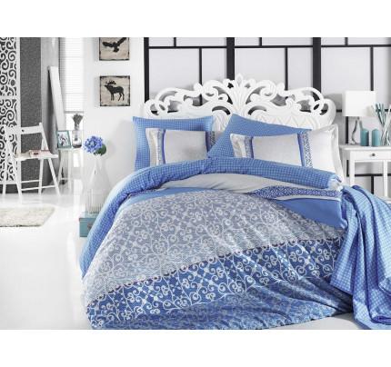 Постельное белье Hobby Home сатин Laura (синий)