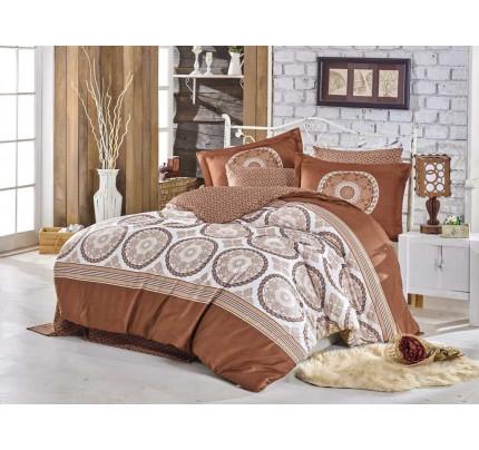 Постельное белье Hobby Home сатин Silvana (коричневый)