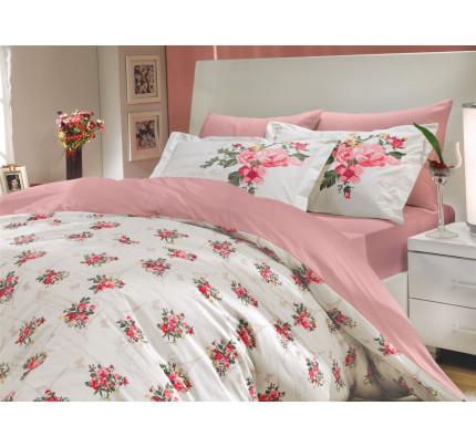 Постельное белье Hobby Home поплин Paris Spring (розовый)