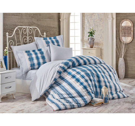 Постельное белье Hobby Home поплин Debora (синий)