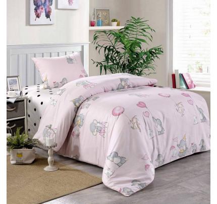 Sofi de Marko Веселый слоник (розовый) детское постельное белье