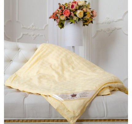 Одеяло Kingsilk Elisabette Люкс бежевое (всесезонное)