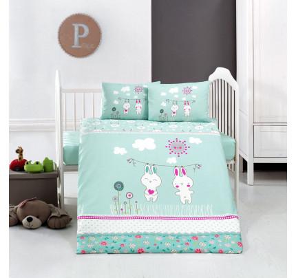 Детское белье в кроватку Arya Home Bunny