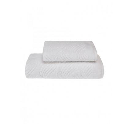 Полотенце Soft Cotton Wave (белое)