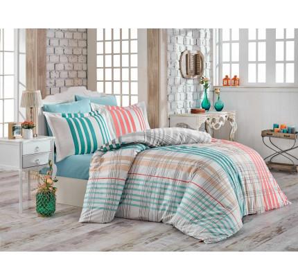 Постельное белье Hobby Home поплин Stripe (бирюзовый)