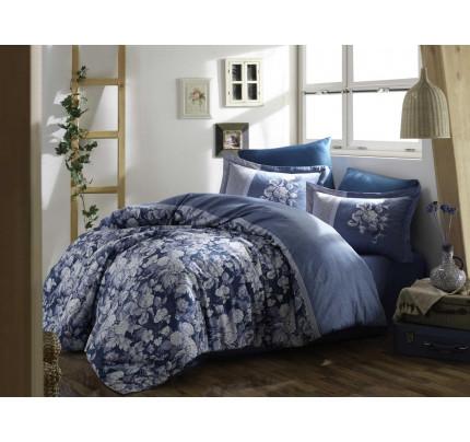 Постельное белье Hobby Home сатин Amalia (синий)
