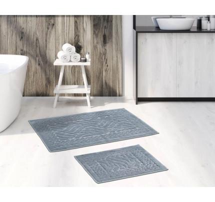 Набор ковриков Karven Ruya серый (50x60+60x100)