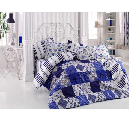 Постельное белье Hobby Home поплин Clara (синий)