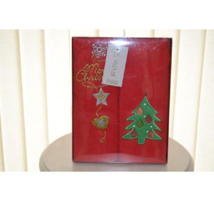 Новогодний набор полотенец La Villa Ёлочка (красный, 2 предмета)