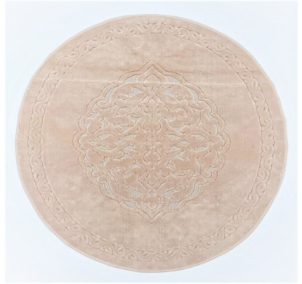 Круглый коврик Karven Osmanli пудра 120 см.