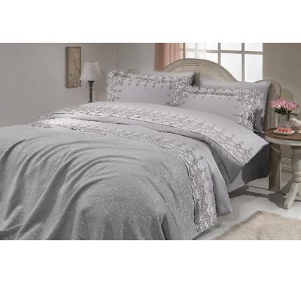 Набор постельного белья с покрывалом Gelin Home Virginia (серый) евро