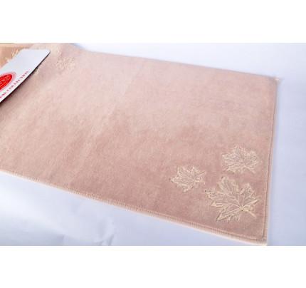 Набор ковриков Karven Leaf пудра (50x60+60x100)
