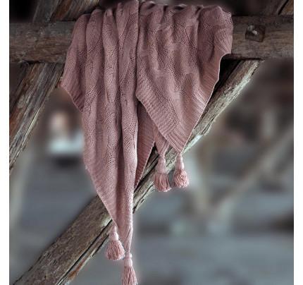 Плед Sofi de Marko Вязка (розовый)