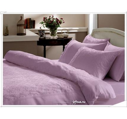 Свадебное постельное белье Sedef (лиловое) евро