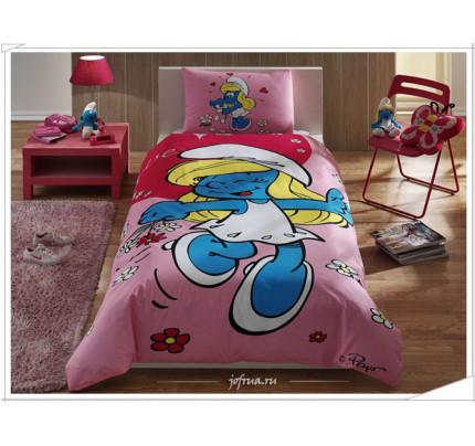 Детское постельное белье Смурфики: Красавица Смурфетта