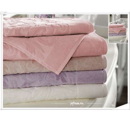Набор полотенец Tivolyo Baroc (розовый) 3 предмета