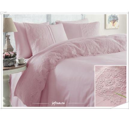 Свадебное постельное белье Donna (розовое) евро