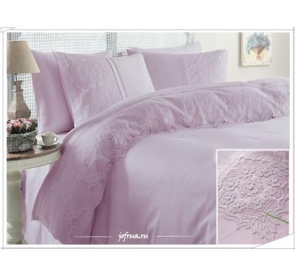 Свадебное постельное белье Donna (лиловое) евро