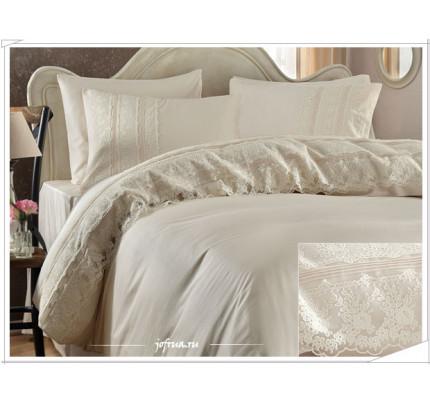 Свадебное постельное белье Jessica (шампань) евро