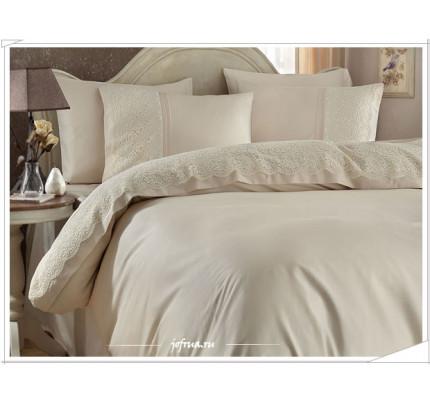 Свадебное постельное белье Gelin Home Evin (шампань) евро