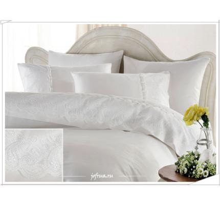 Свадебное постельное белье Charlotte (белое) евро