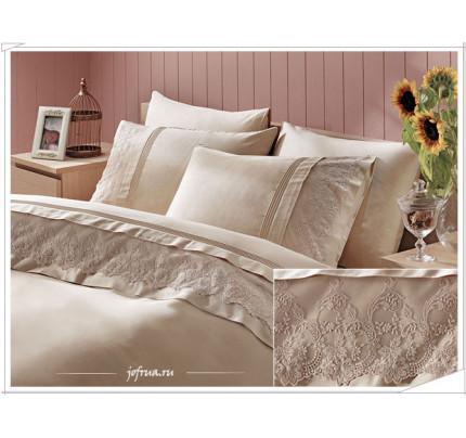 Свадебное постельное белье Ezgi (бежевое) евро