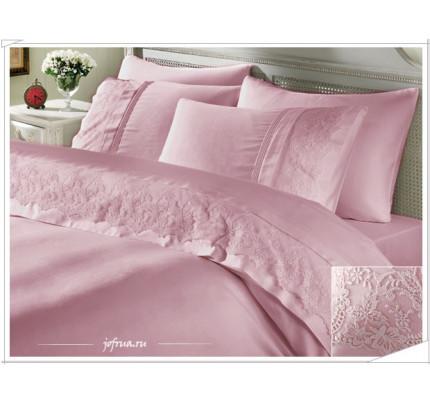 Свадебное постельное белье Ezgi (розовое) евро