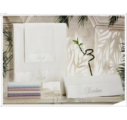 Набор полотенец Tivolyo Bamboo (белый) 3 предмета