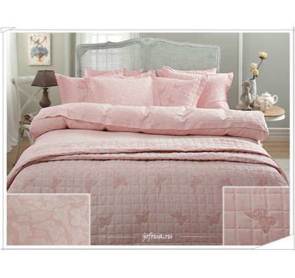 Свадебный набор Gelin Home Butterfly (розовый) евро