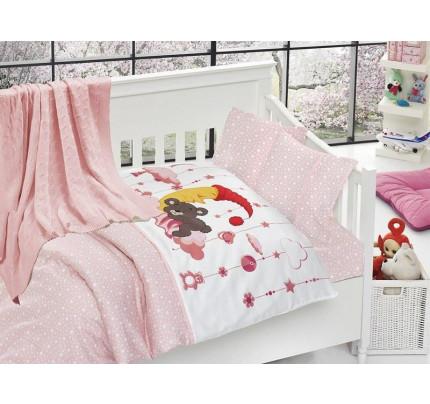 Детское белье + плед First Choice Sleeper pembe