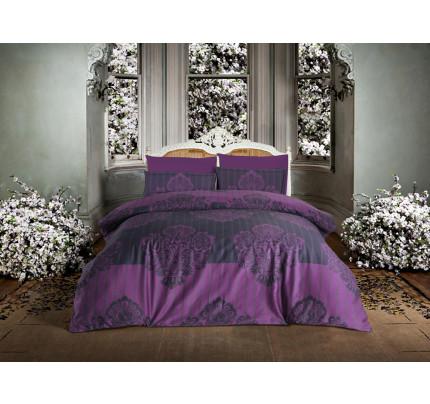 Постельное белье Altinbasak Barok (фиолетовое) евро