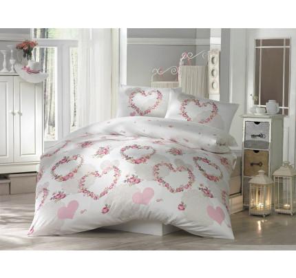 Постельное белье Altinbasak Huma (розовое) евро