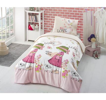 Детское постельное белье Altinbasak Nice Day (розовое)