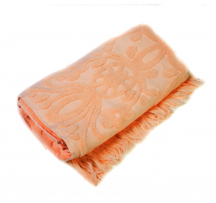 Полотенце с бахромой Arya Isabel (персиковое)