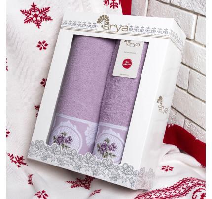 Набор полотенец Arya Rosalina (2 предмета, лиловый)