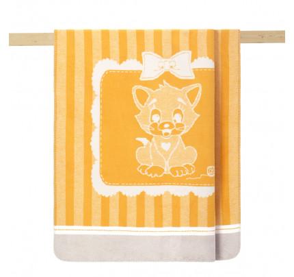 Детский плед Arya Kitty (желтый) 100x120