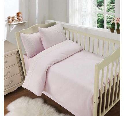 Sofi de Marko Кружево из облаков (розовый) детский комплект в кроватку