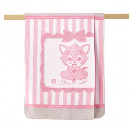 Детский плед Arya Kitty (розовый) 100x120