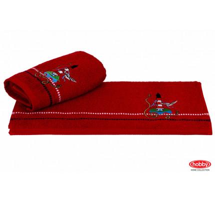 Полотенце Hobby Home Collection Marina красный маяк 50x90