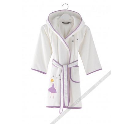 Халатик детский Soft cotton Ballerina (лиловый)