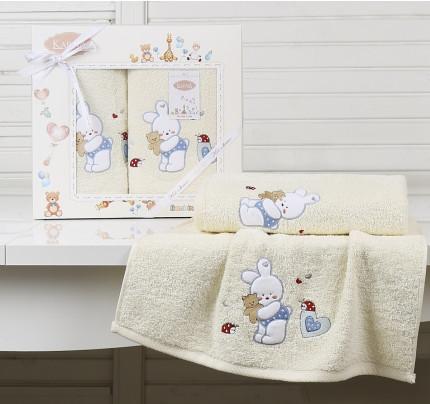 Набор полотенец Karna Bambino Bunny (2 предмета, кремовый)