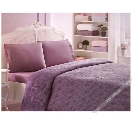 Покрывало-пике Tivolyo Home Baroc (фиолетовый)