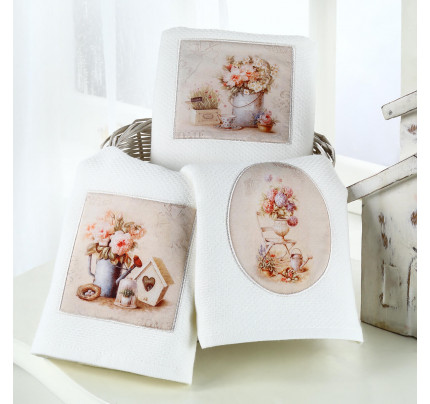 Салфетки для кухни Tivolyo Home Bellrose (3 предмета, ассорти) 40x60