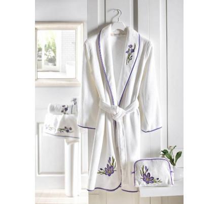 Халат женский Soft Cotton Blossom (лиловый)