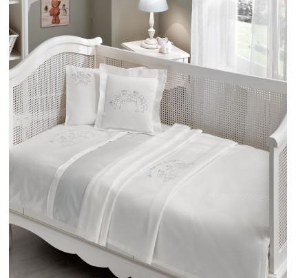 Набор в кроватку с покрывалом Tivolyo Family (голубое)