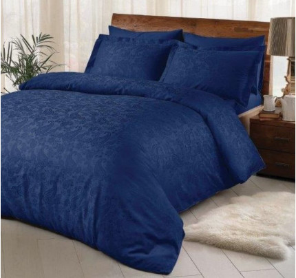 Постельное белье TAC жаккард Brinley (синий) евро