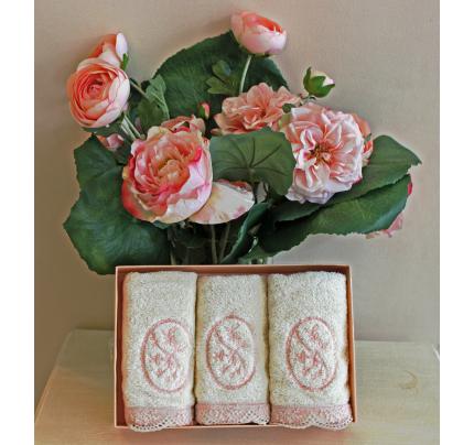 Салфетки Soft Cotton Buket (кремовый, 3 предмета) 32x50